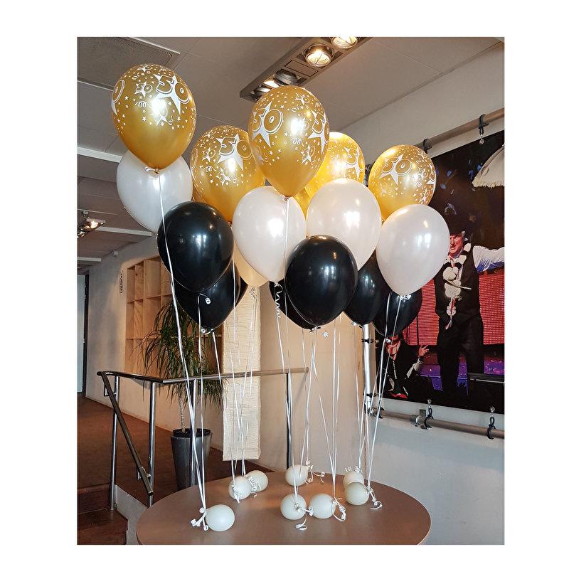 Heliumtros met cijfer ballon