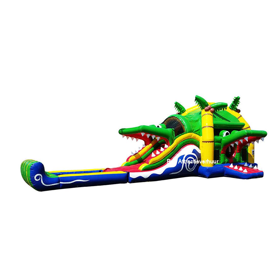 SUPER krokodil met plonsbad