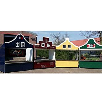 Marktkramen huren. Oud hollandse kraampjes huren. Nostalgische huisjes als verkoopkraam of spelletjeskraam. Inclusief opbouw en afbouw.
