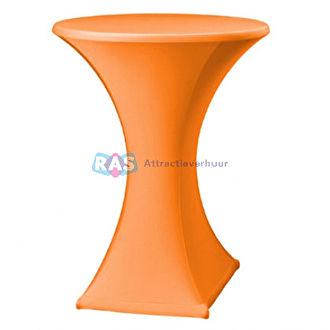 Oranje statafelhoes huren.  Statafelhoezen met of zonder statafel in diverse kleuren te huren.