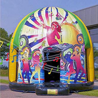 Disco springkussen huren. Ras attractieverhuur Bergen op Zoom. Huren met het grootste gemak in Roosendaal.